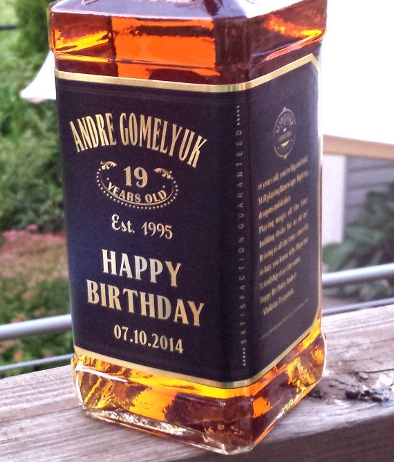 Magic Labels Personalised Whisky Personalised Whisky Bottle Whiskey Label