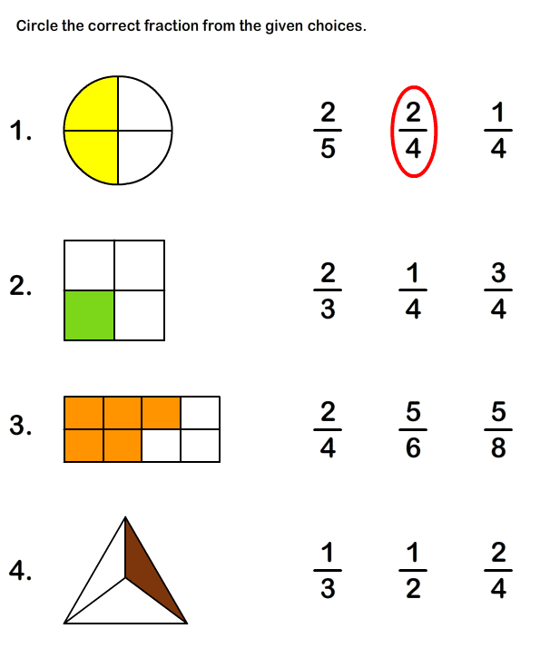 Printables Math Worksheets For Fractions math fractions worksheets and on pinterest