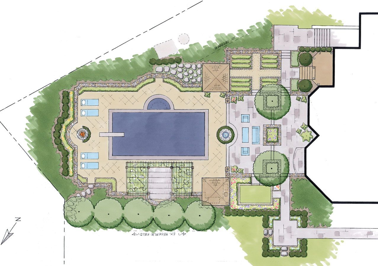 Master plans sisson landscapes site plans graphics for Swimming pool site plan