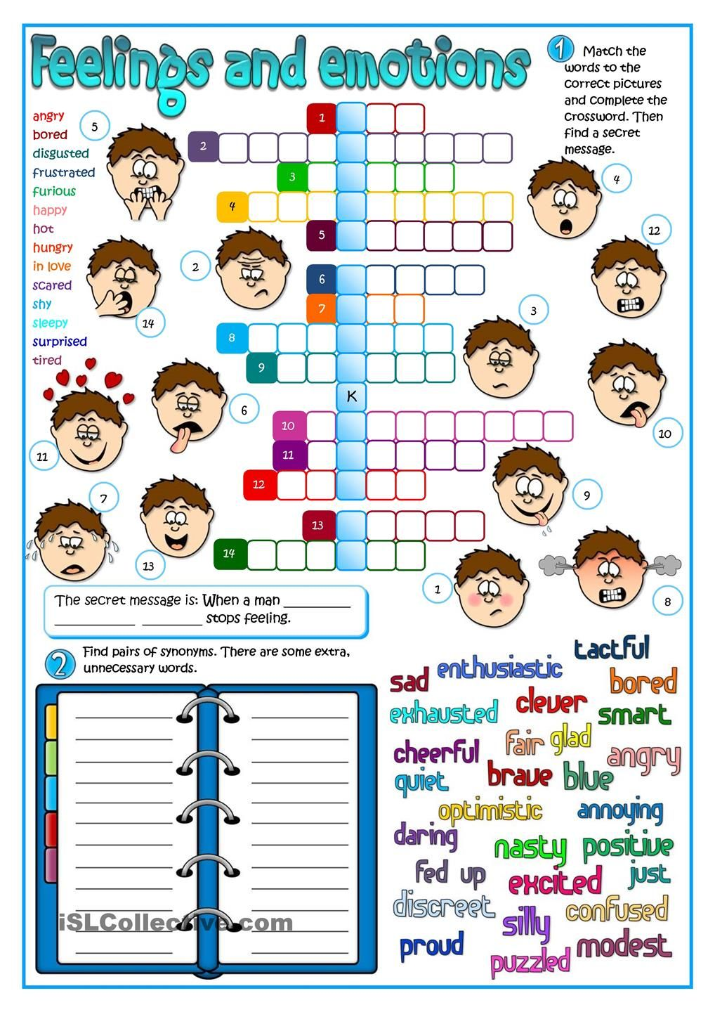 Feeling and emotions | worksheets, activities | Pinterest | Englisch ...
