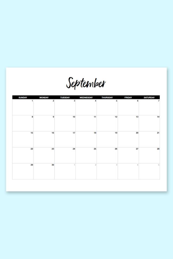 free september 2019 printable calendar download and print this