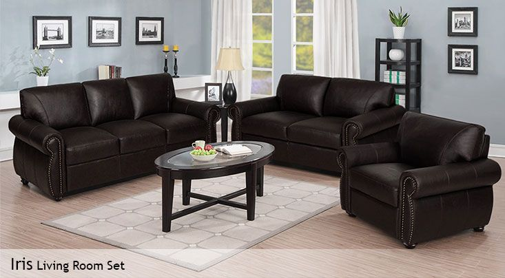 $1,799.99 -- 3 Piece Top Grain Leather Living Room Set