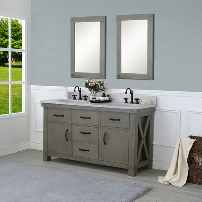 Laurel Foundry Modern Farmhouse Sean 60 Double Bathroom Vanity