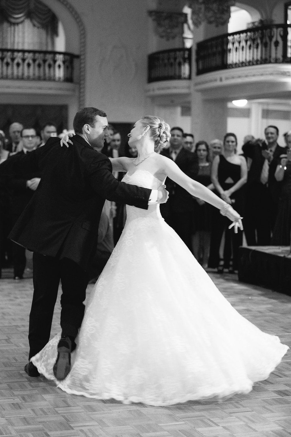 Elena taube bailey first dance in the grand ballroom at the historic