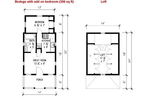 Small house on wheels design