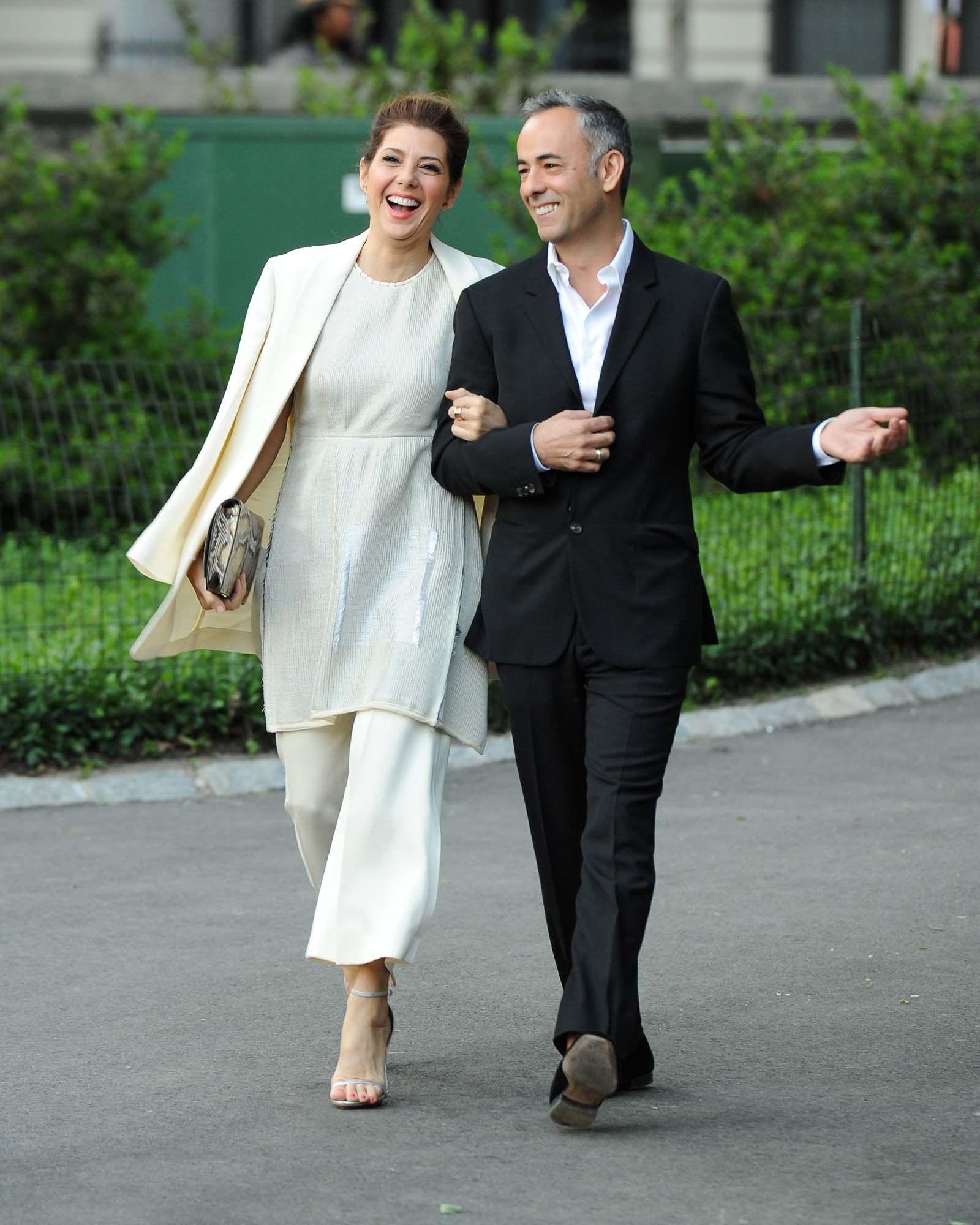 Marisa Tomei in Calvin Klein Collection and Francisco Costa