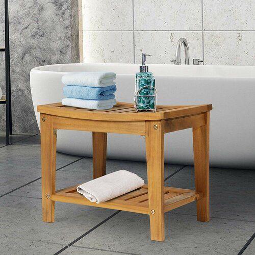 Sol 72 Outdoor Arrey Wood Storage Bench Wood Bathroom Wood Storage Bench Acacia Wood