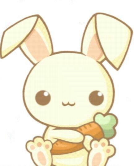 Un petit lapin kawaii a dessiner coussins - Lapin a dessiner ...