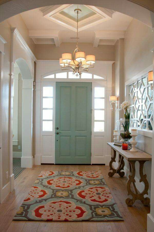 Love This Idea...paint The Inside Of Your Door To Change The Feel