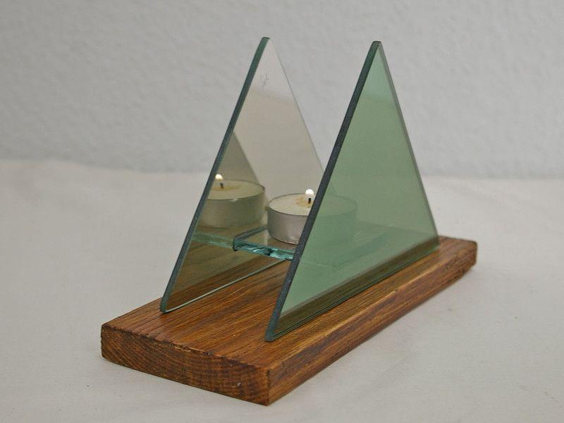 Kerzenständer glas grün cm gift company renio clark