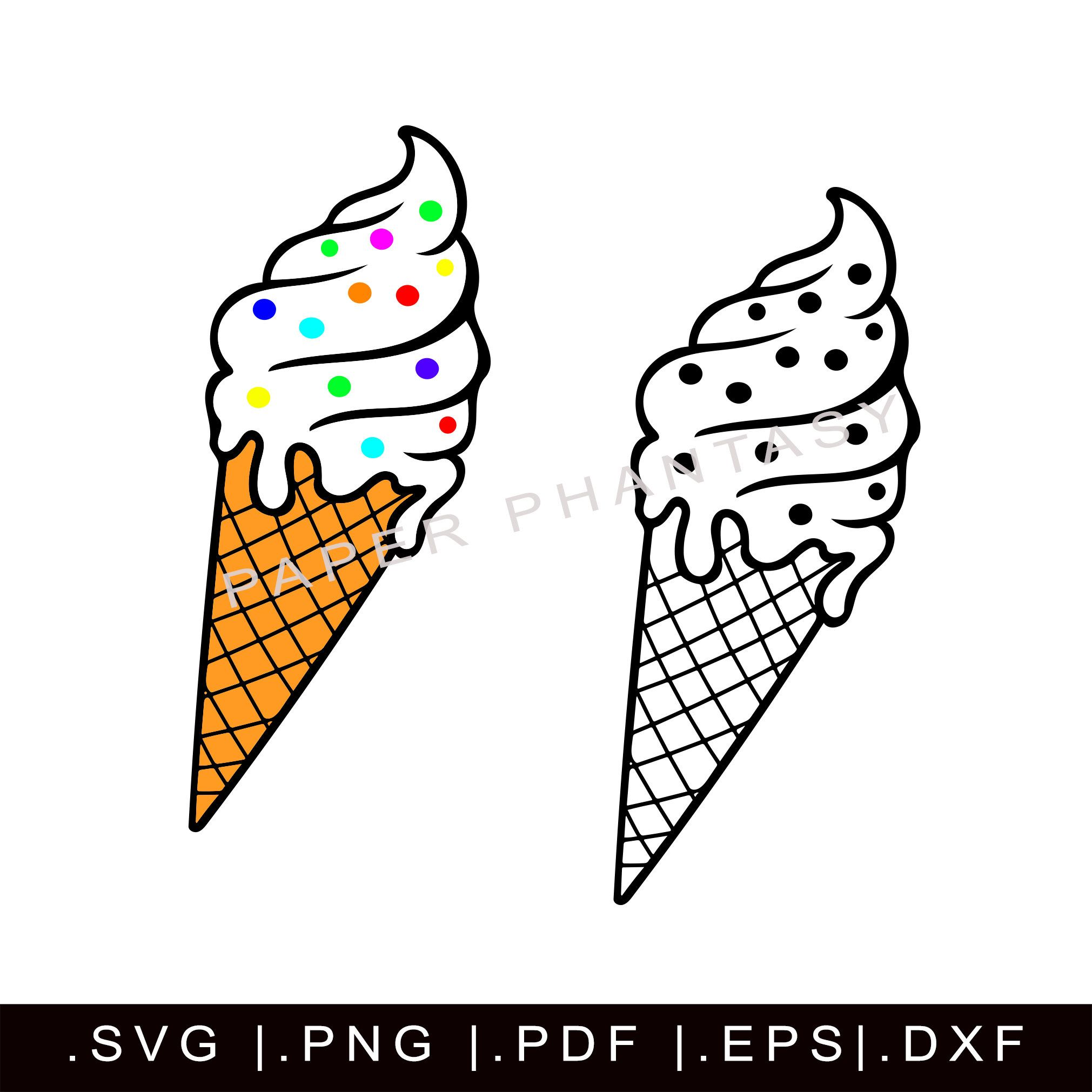 Excited To Share This Item From My Etsy Shop Ice Cream Cone Svg Outline Sprinkles Vanil Kids Printable Coloring Pages Ice Cream Cone Drawing Outline Drawings