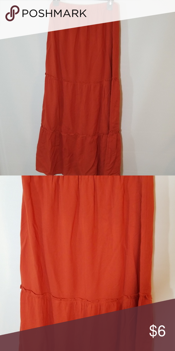 6c98a5b2f695 Forever 21 tiered maxi skirt Forever 21 tiered maxi skirt in burnt orange  Forever 21 Skirts