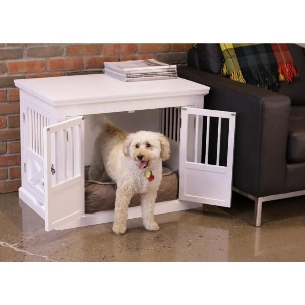 Zoovilla White Fairview Triple Door Dog Crate Large Pth1072020100 The Home Depot In 2021 Furniture Style Dog Crate Dog Crate Online Pet Supplies