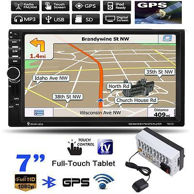 "7"" HD 2 Din Touchscreen Bluetooth Car MP3 MP5 Player USB/TF/FM GPS Navigation https://t.co/mCKMF23B8q https://t.co/unJH4zeLan"