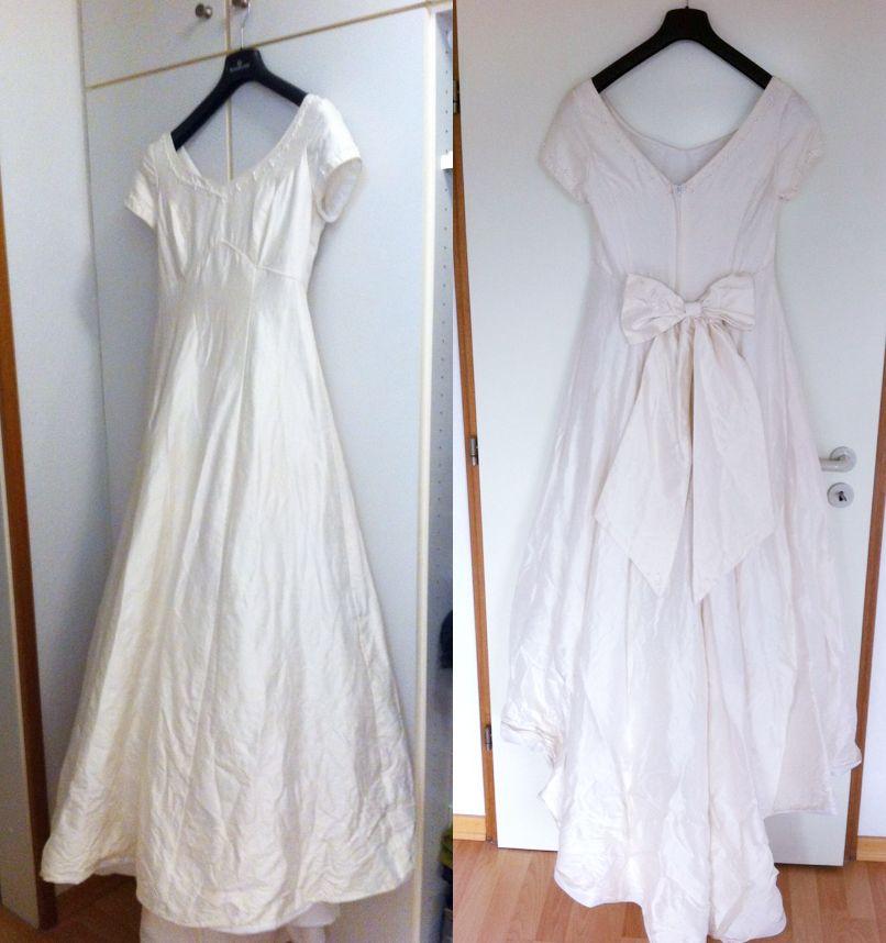 ♥ vintage hochzeitskleid seide 36 Fee Elfe Lilly Nostalgie Noa ...