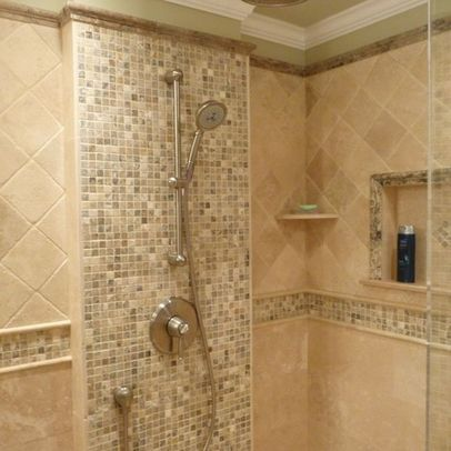 Bathtub Remodeling Gray Tile | Images Of Bathroom Travertine Design Ideas  Pictures Remodel And Decor .