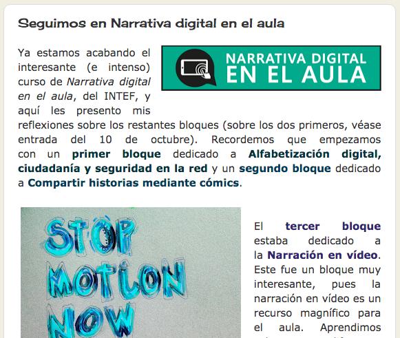 B5 Reflexión Artículo De Valoración Y Reflexión Sobre Los Bloques De Narración En Vídeo Cooperativa Y En Dispositivos Del Mó Narrativa Digital Digitales Aula