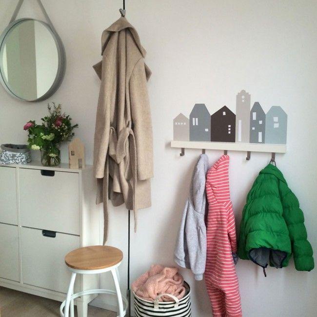garderobe selber bauen mit wandfolie fuer ikea tjusig blaugrau1 ikea en 2018 pinterest. Black Bedroom Furniture Sets. Home Design Ideas
