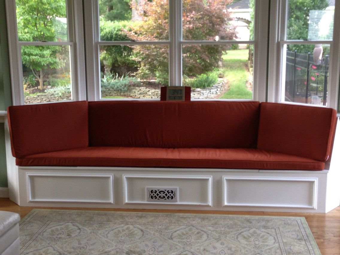 Elegant Custom Bay Window Seat Cushion, Trapezoid Cushion With Cording, Bench Seat  Cushion Custom Cushion Cover