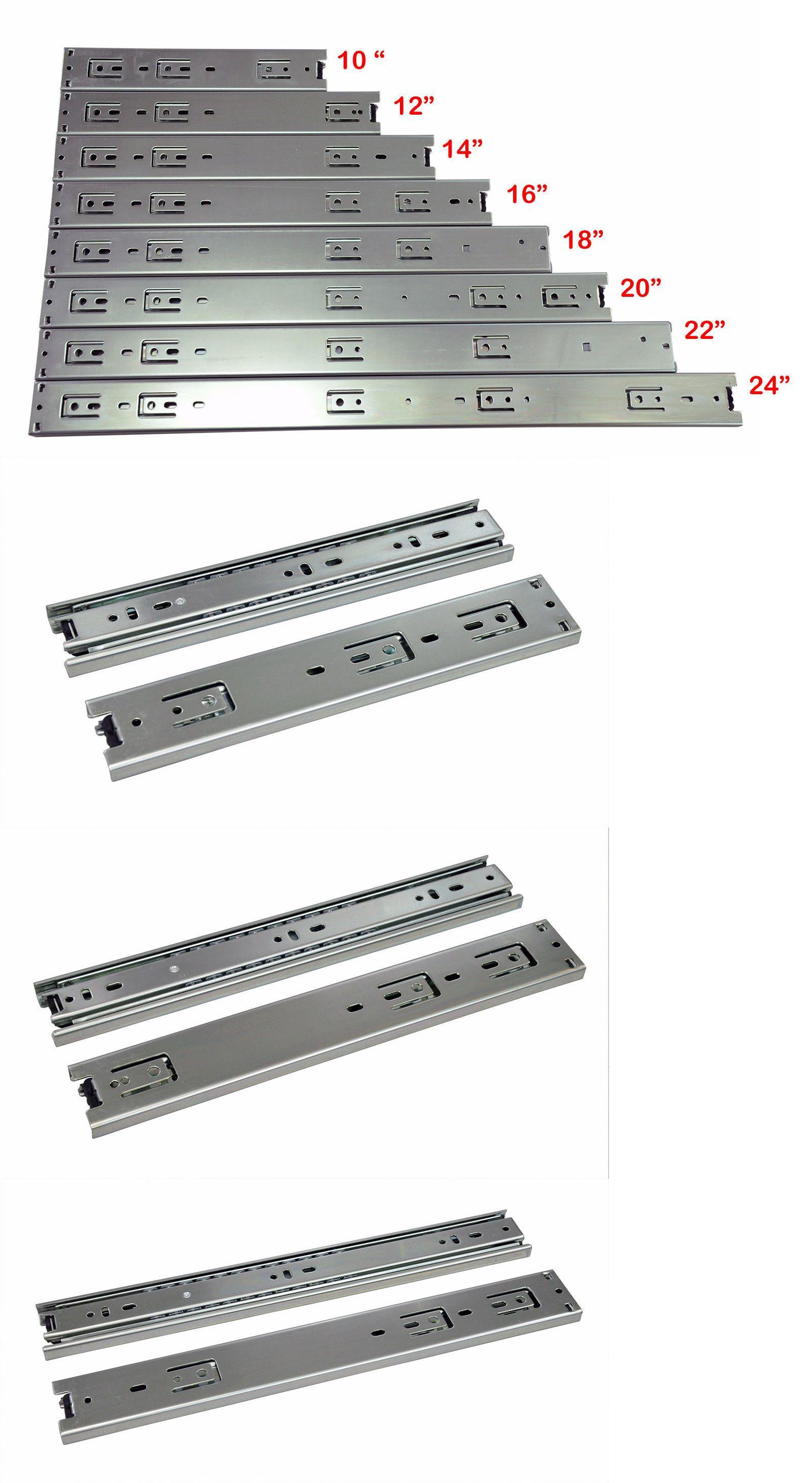 150 lbs 5 Pairs Heavy Duty 3 Section Drawer Sliding Rail Telescopic 10/'/'-24/'/'