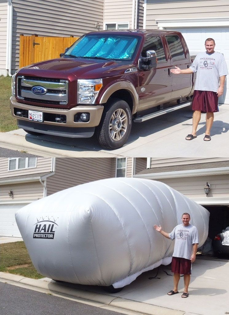 Inflatable Hail Protector For Your Car or Truck (With
