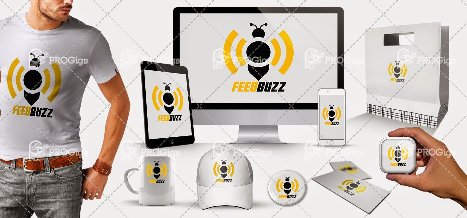Feed Buzz Logo Different Mockup Previews News Illustrator Logo Graphics Graphicdesign Rss Feed Rssfeed Eps Te Youtube Logos Rss Feed