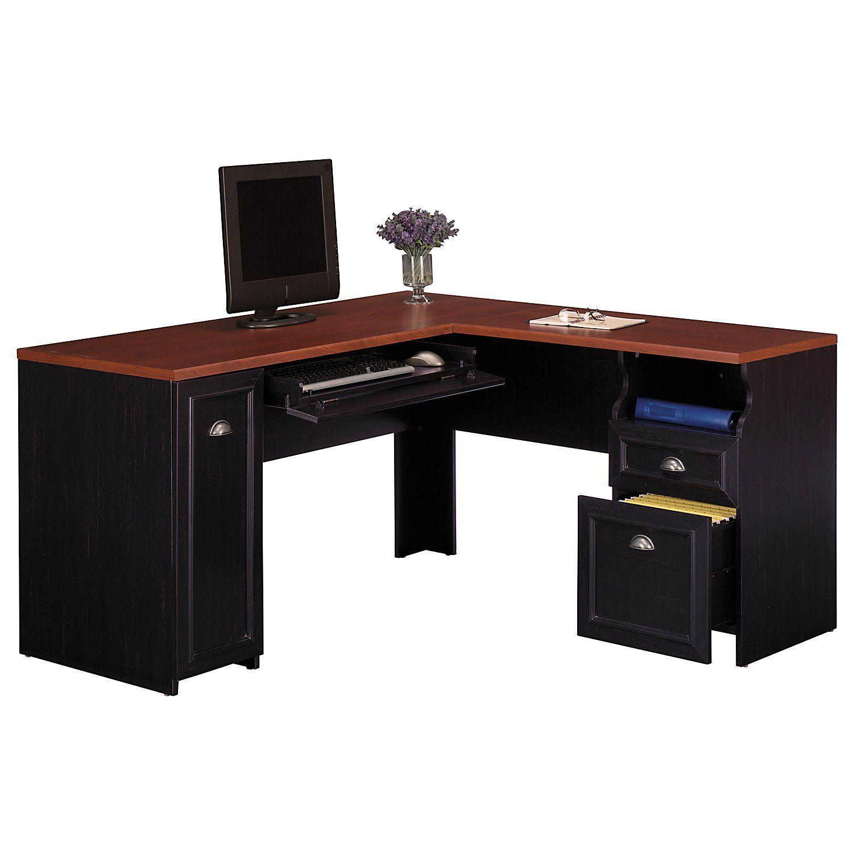 p computer russet cherry corner l shaped desks desk dark in kristen