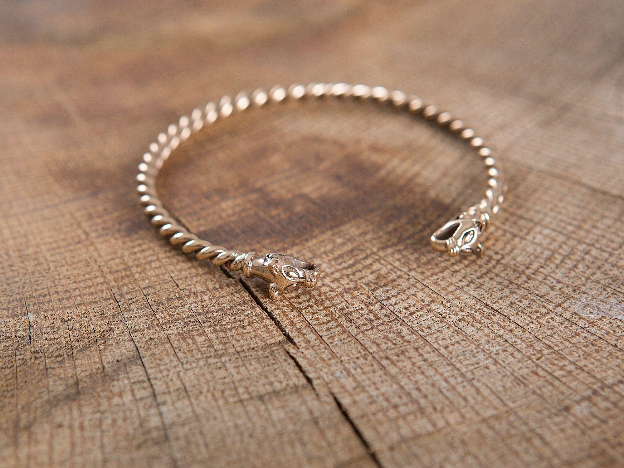 Bracelet Viking T Te De Loup 4mm Jewelery Pinterest Bijoux