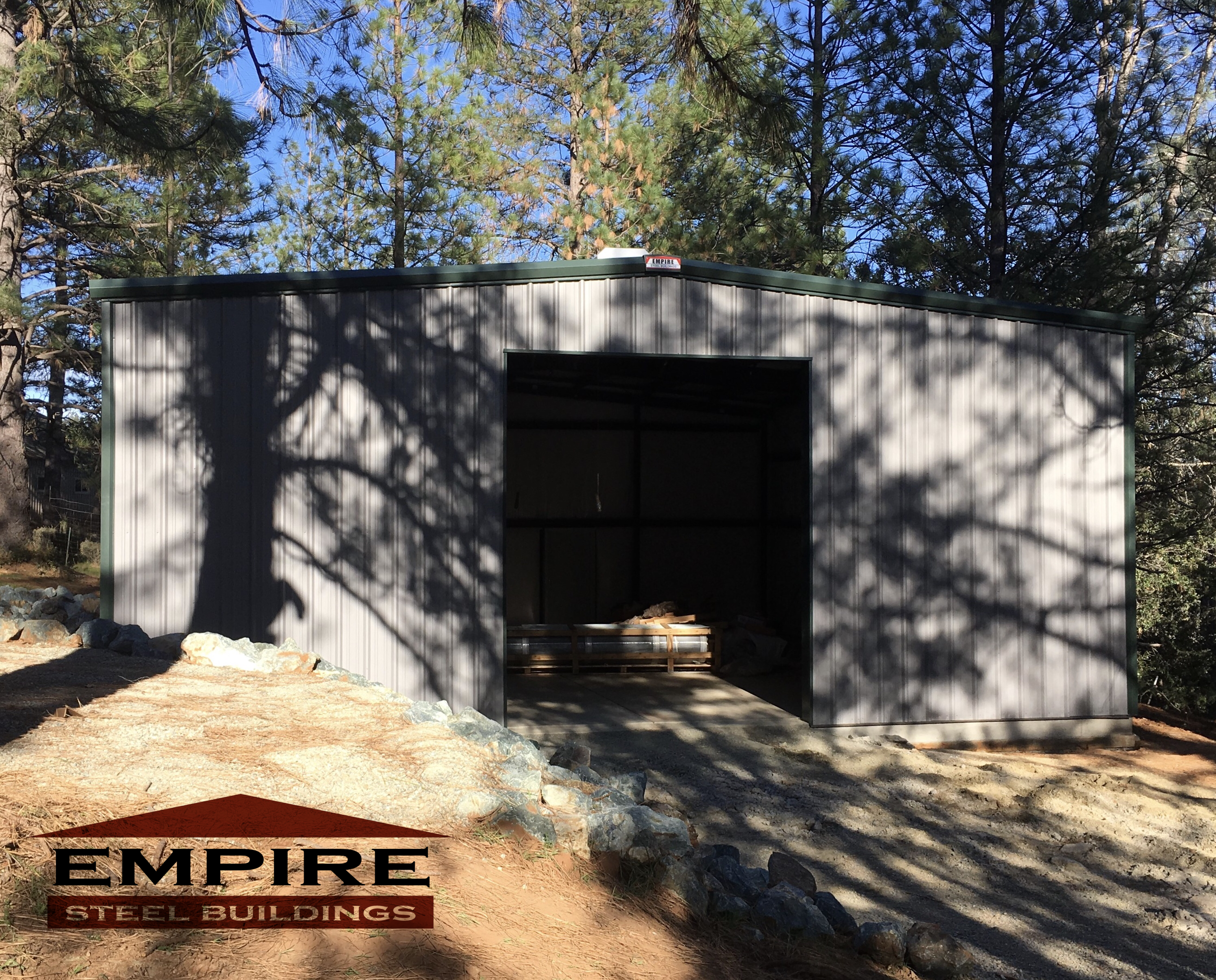 30 X 30 Steel Building In California Provided By Empire Steel Buildings Steel Buildings Outdoor Building