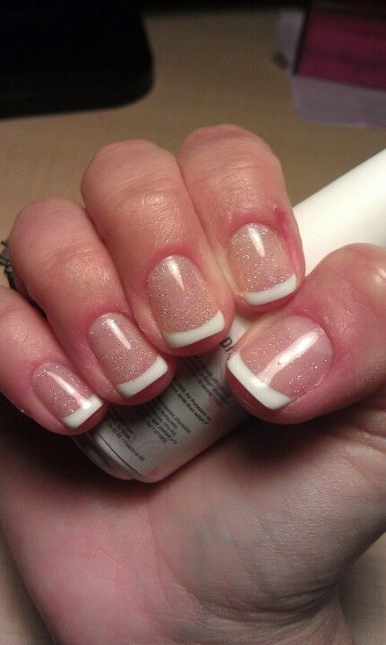 gelish french manicure  first attempt  vegas nights