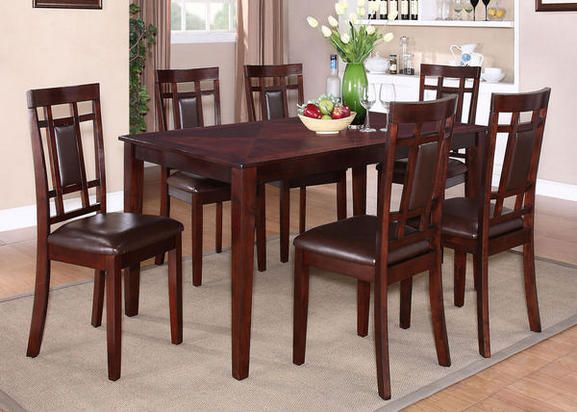 Lindsey 7 Pc Dinette Standard Furniture Dining Room Sets