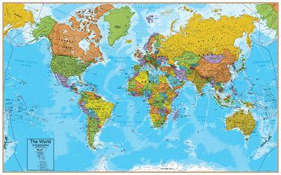 Cartina Del Mondo On Line.World Maps Posters At Allposters Com Poster Mappa Del Mondo Mappe