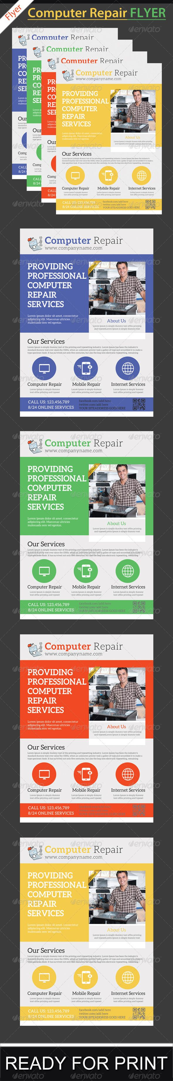 Computer Repair Service Flyer Template | Computer repair services ...