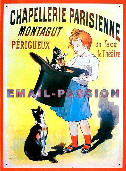Pour Votre Decoration Cuisine Cette Plaque 30x40cm En Relief Chapellerie Parisienne Plaques Metal Diverses Illustration Vintage Affiche Retro Affiches Retro