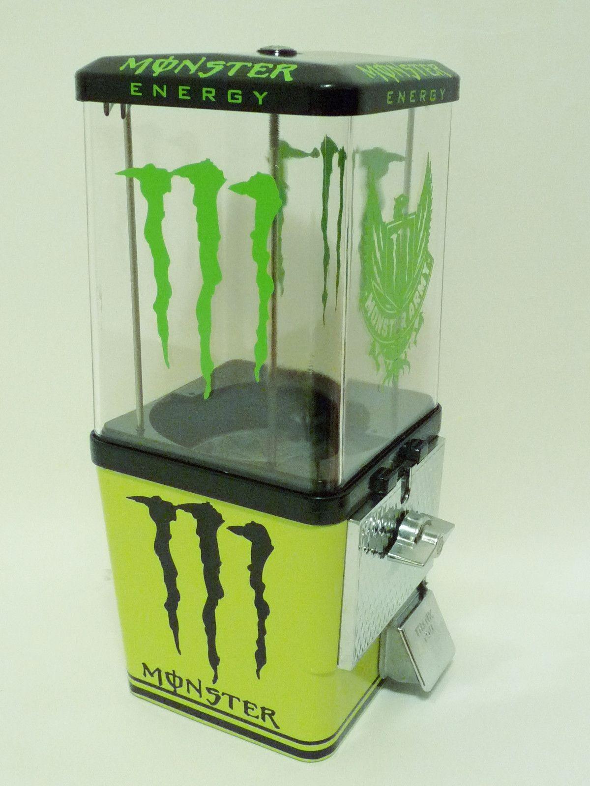 vintage Komet gumball candy machine MONSTER ENERGY DRINK | Monster ...
