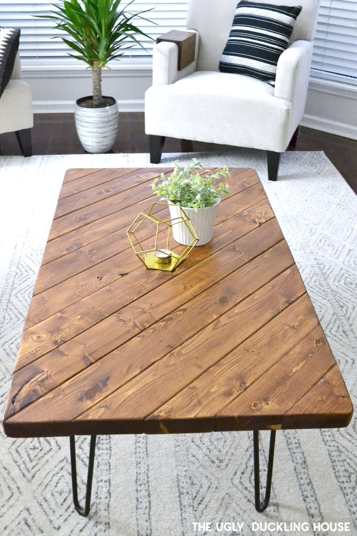 my 15 minute diy hairpin leg coffee table things to build diy table hairpin leg coffee. Black Bedroom Furniture Sets. Home Design Ideas