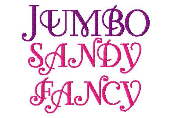 Jumbo Sandy Fancy Machine Embroidery Font Sizes 567 Buy 2