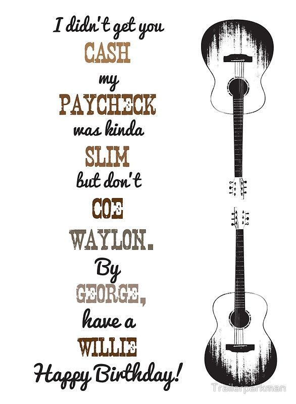 Country Music Birthday Card