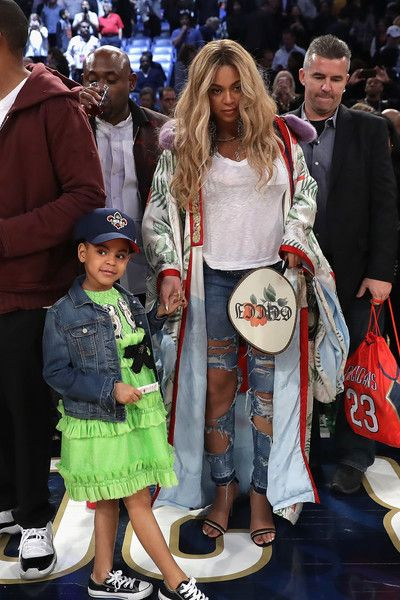 d0e72231ca8 Blue Ivy Carter And Mom Beyonce attend the 2017 NBA All-Star Game with her  daughter Blue Ivy at Smoothie King Center on February 19, 2017 in New  Orleans, ...