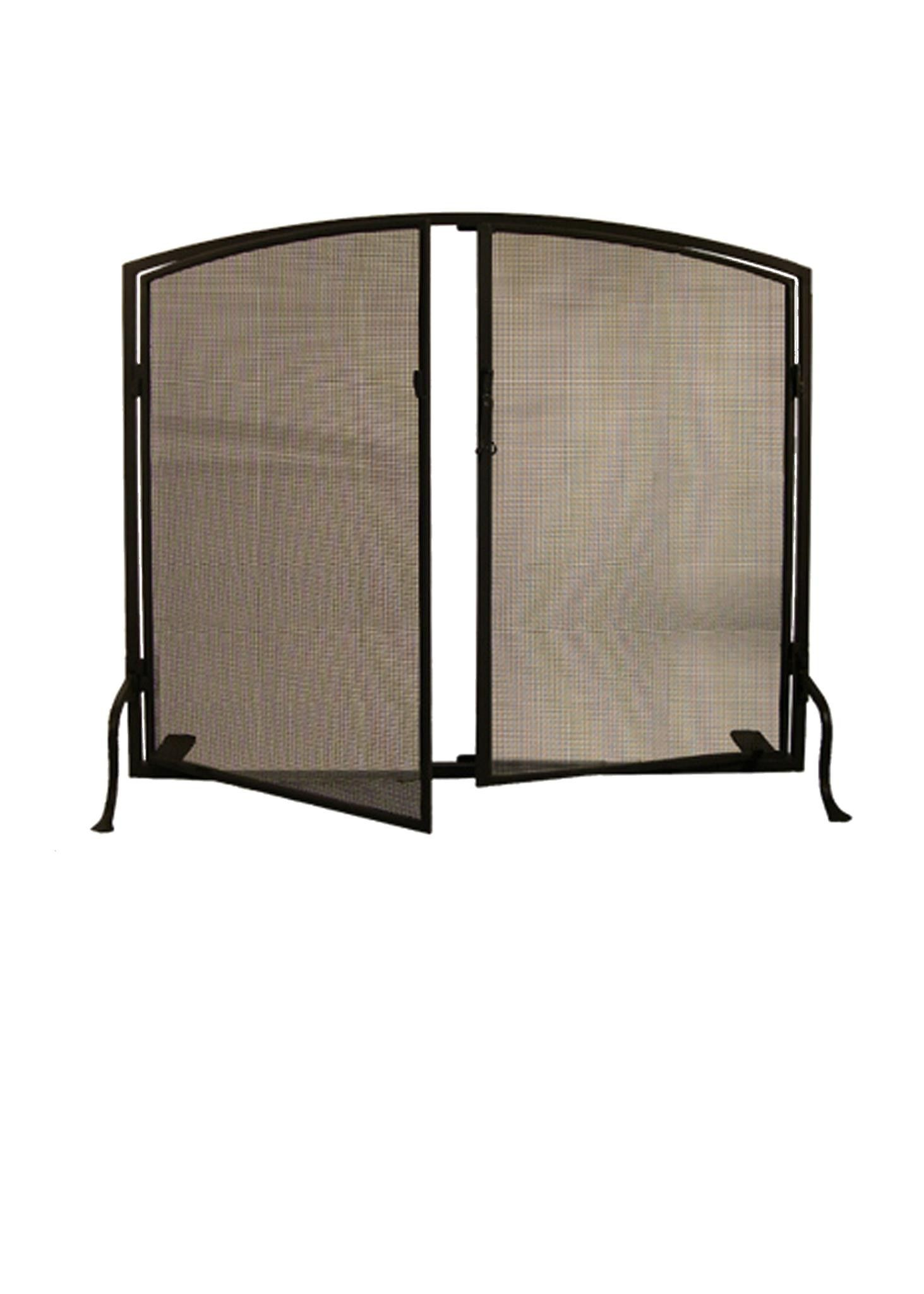 40 inch w x 32 inch h prime arched fireplace screen colors powder