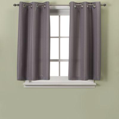 Hookless Waffle 45 Inch Bath Window Curtain Window Curtains