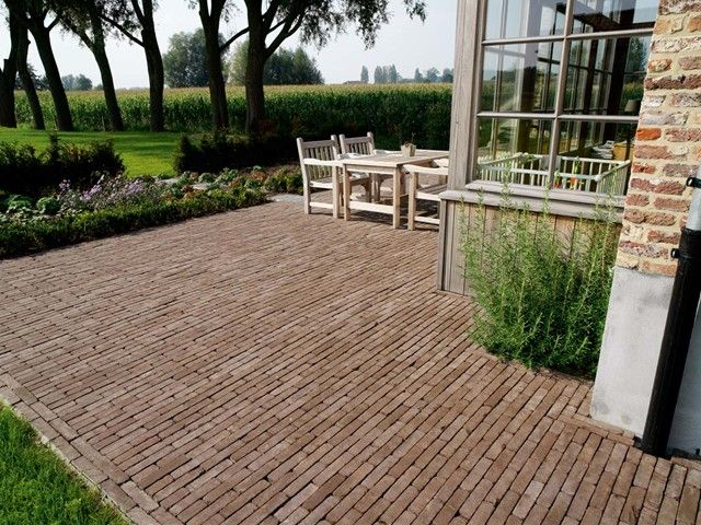 Jardin Terrasse Pav S En Terre Cuite Terrasses