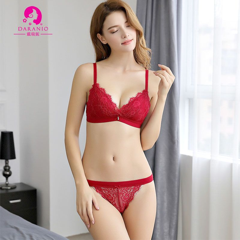 01a55bbe84 2018 NEW European Fashion Women s 3 4 Ultra Thin Lace Bra   Brief Sets  Brassiere Suits Bralette Sexy Underwear with Exqusite Floral Embroidery  Butterfly ...