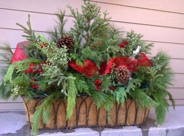 Faire une jardini re de no l noel pinterest for Decoration exterieur hiver