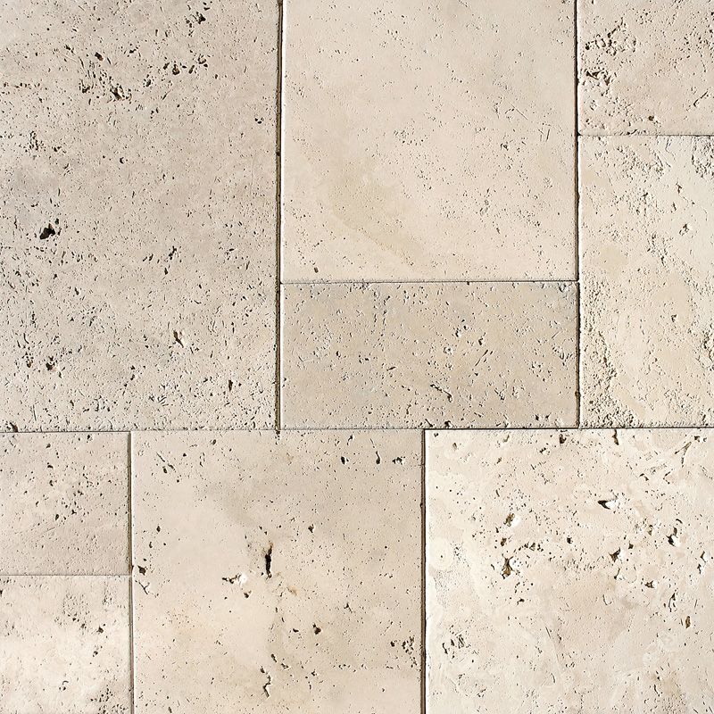 Ivory antiqued versailles pattern travertine patterns for Exterior floor tiles texture
