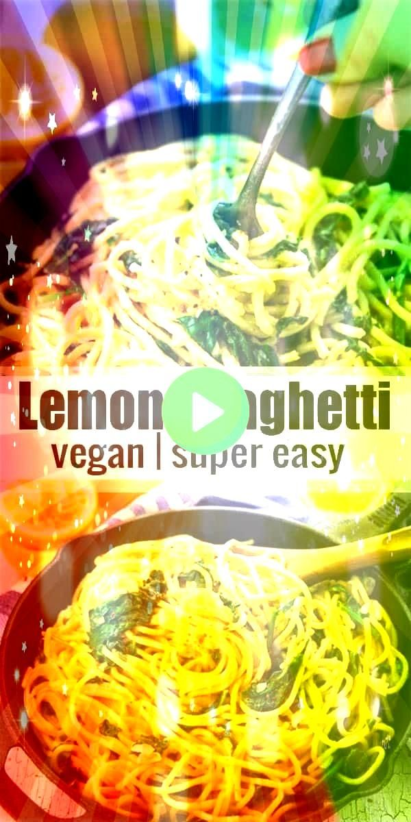 spaghetti with spinach are the perfect dinner recipe for busy weekni These lemon spaghetti with spinach are the perfect dinner recipe for busy weekni These lemon spaghett...