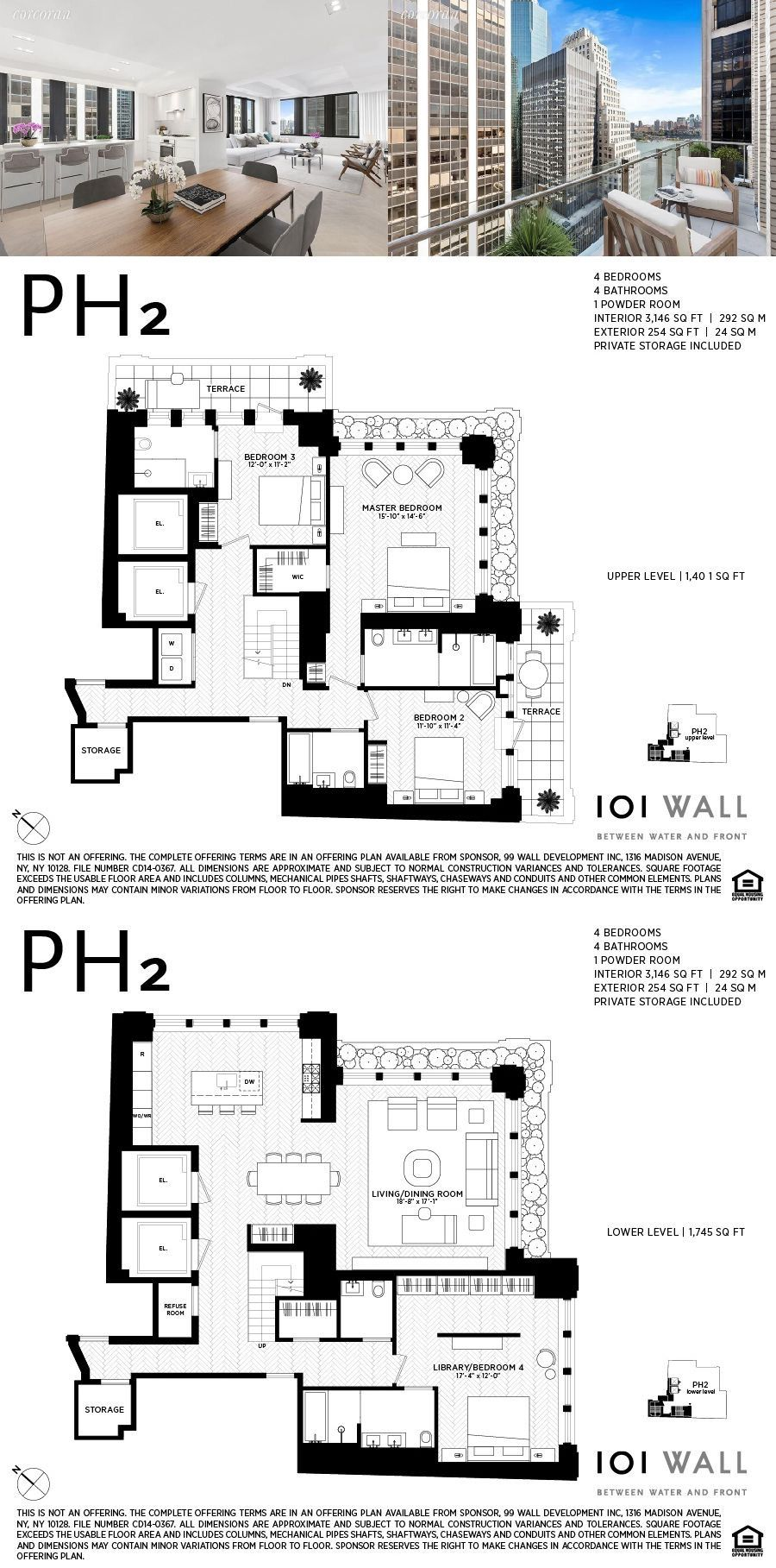 For sale wall st ph in financial district floor plans