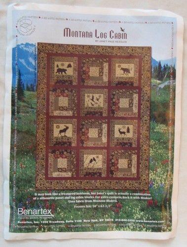 Montana Log Cabin Pre Cut Quilt Kit Wildlife Decor