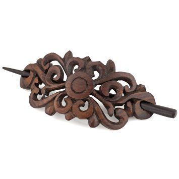 Evolatree - Hand Carved Sono Wood - Royal Butterfly Filigree - Hair Pin Barrette…