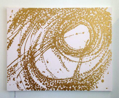 Kulture Bomb - Gold Spiral Canvas www.kulturebomb.com